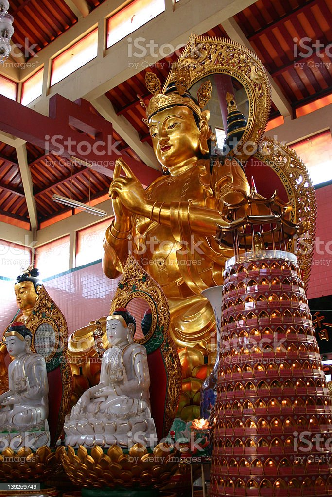 Buddhist temple statues royalty-free stock photo