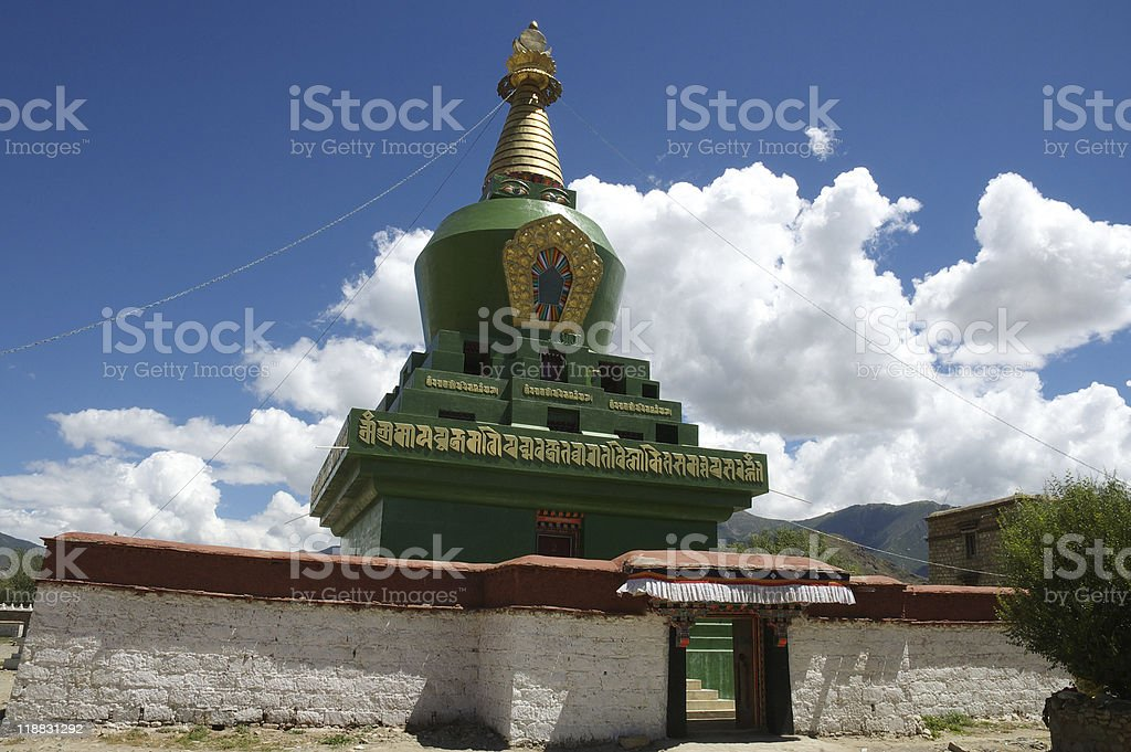 Buddhist Temple Tower royalty-free stock photo