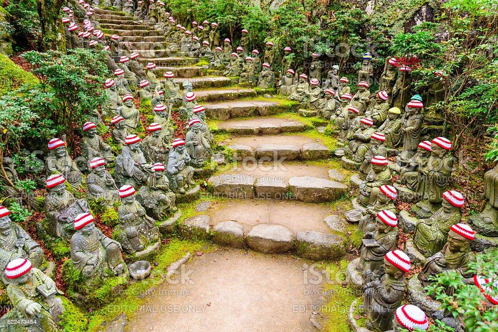 Buddhist Temple Trail stock photo