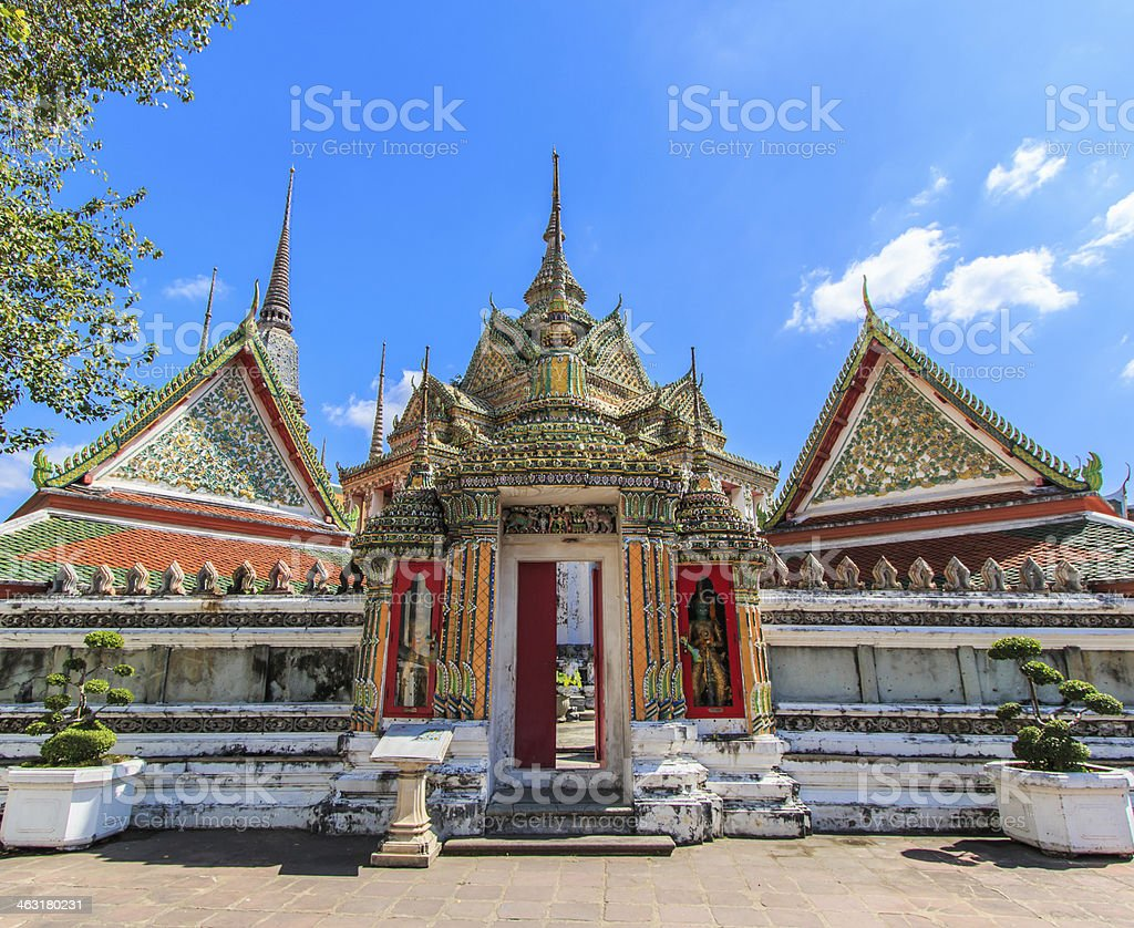 Buddhist temple, Wat Pho in Bangkok ,Asia Thailand stock photo