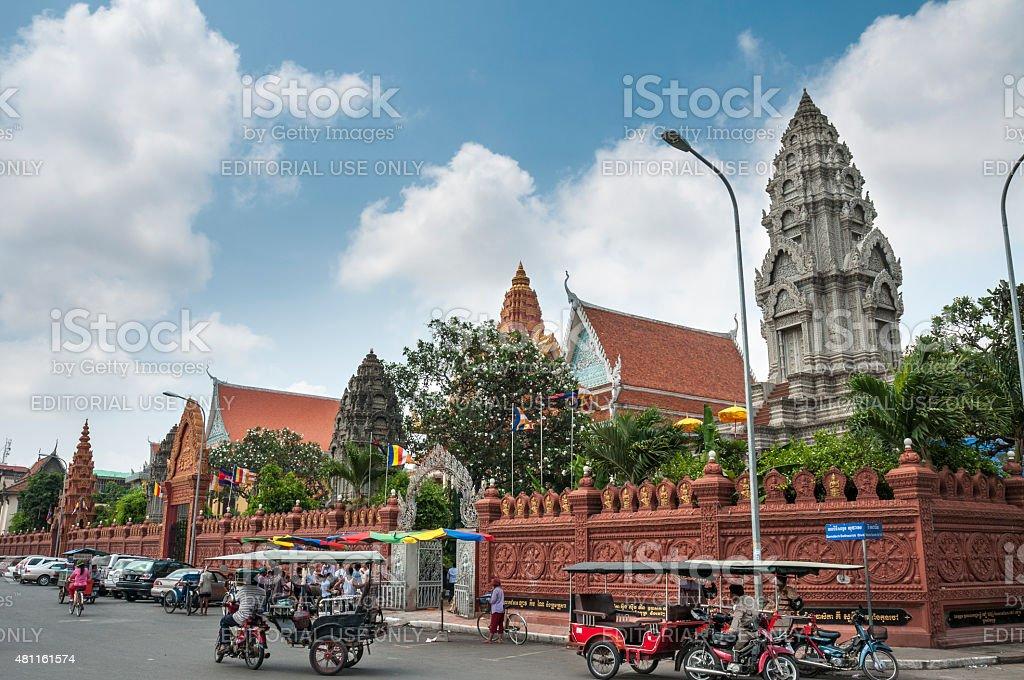 Buddhist Temples In Cambodia stock photo