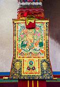 Buddhist thangka, Tibetan Buddhist painting or applique on textile