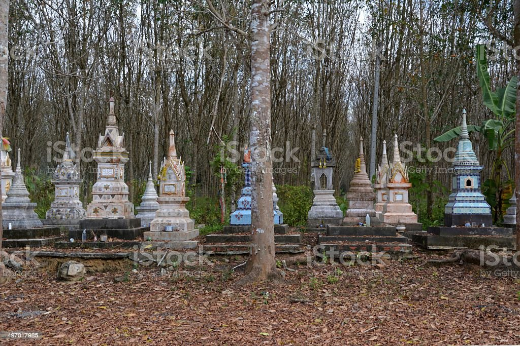 Buddhist tombs, Trang Province - Thailand stock photo