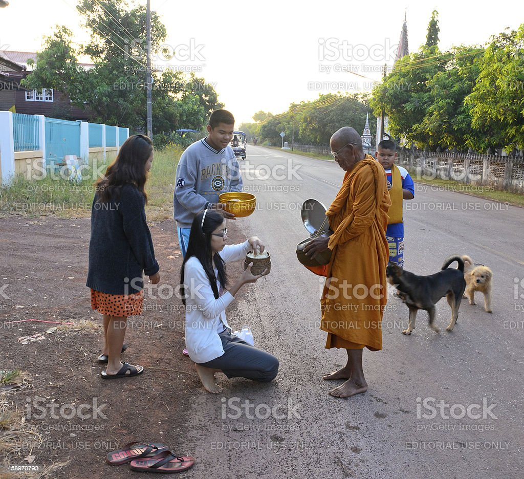 Buddhist traditions royalty-free stock photo