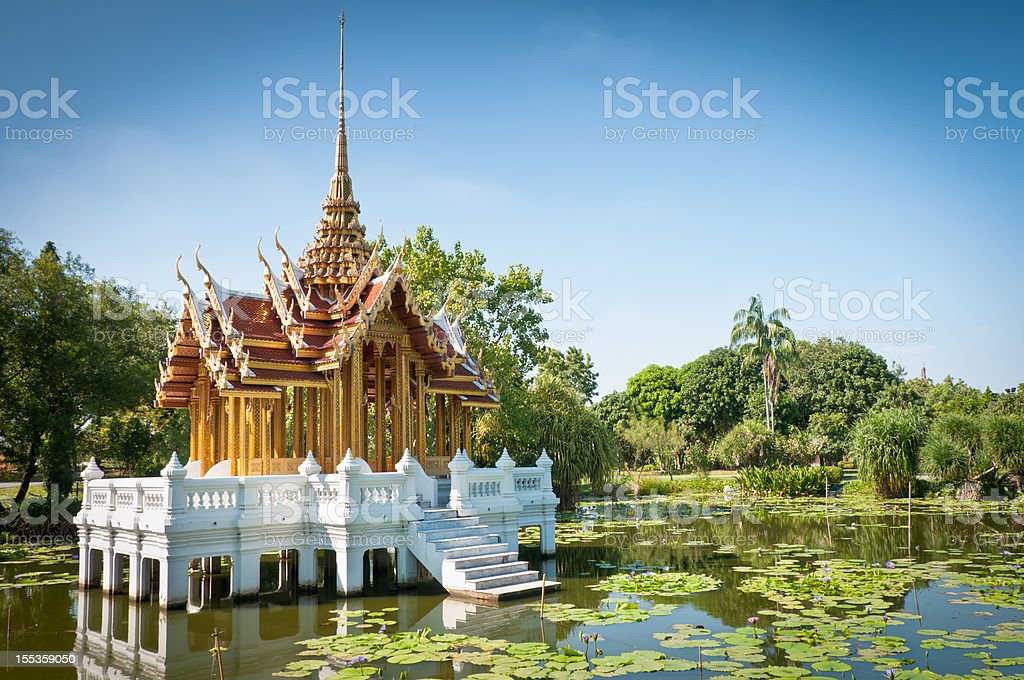 Buddhist Wat On A Lake In Thailand royalty-free stock photo