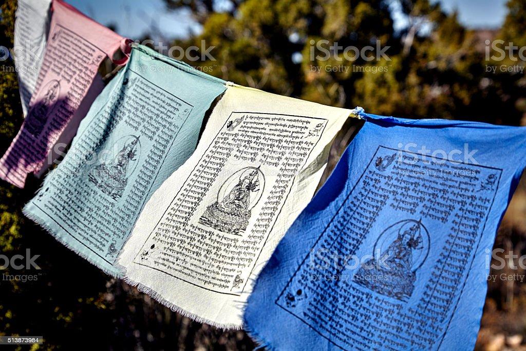 Buddisht Prayer Flags stock photo