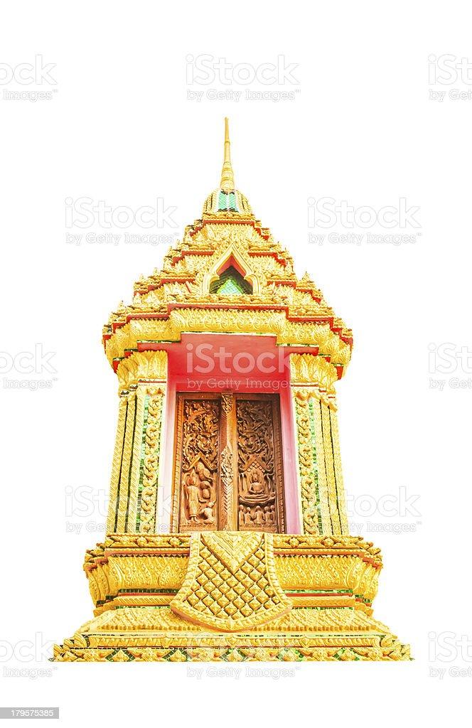 Buddist temple window decotation royalty-free stock photo