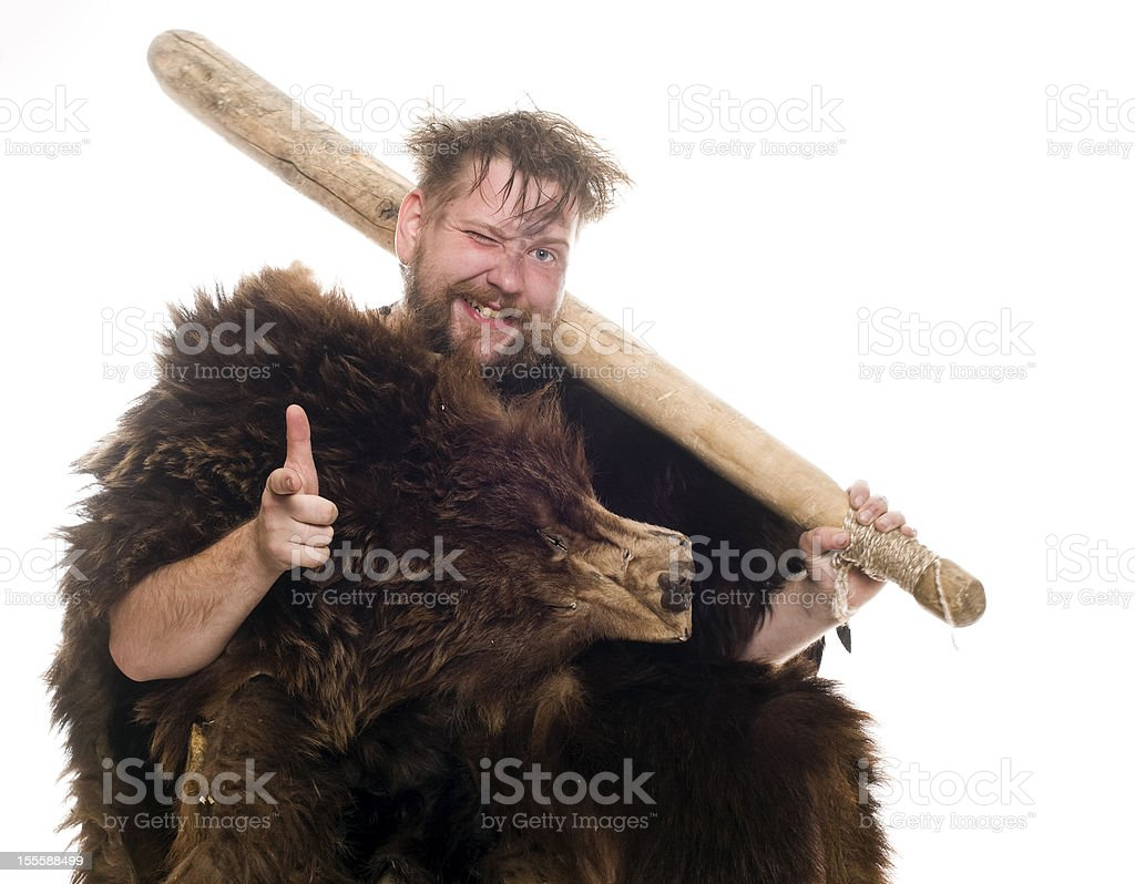Buddy caveman stock photo