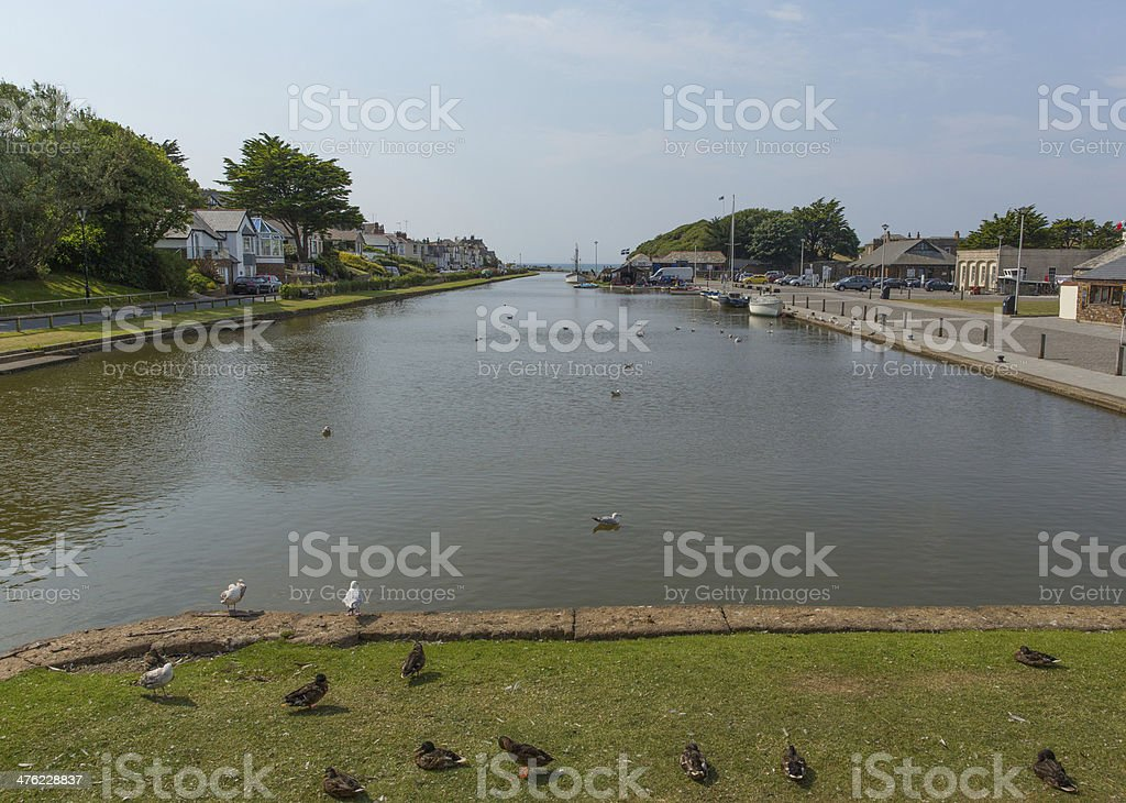 Bude canal North Cornwall stock photo