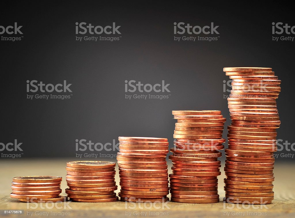 Budget and Coins stock photo