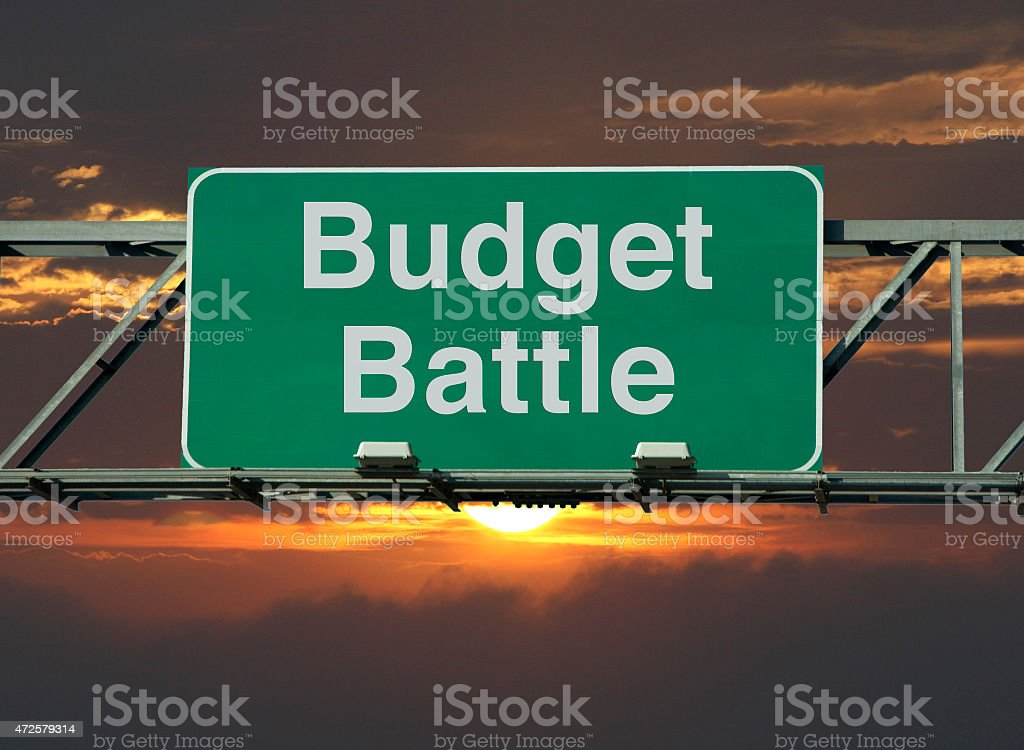 Budget Battle stock photo