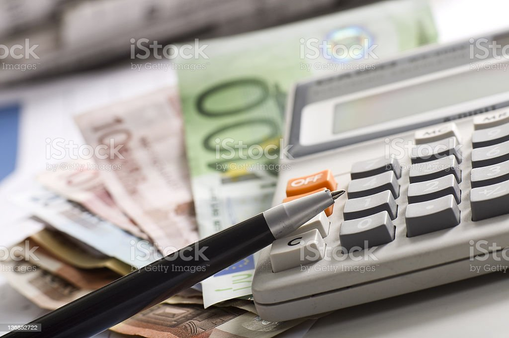 budget calculation royalty-free stock photo