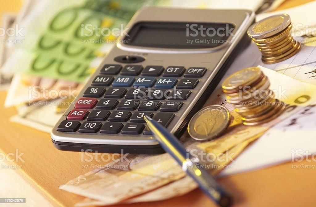 Budget calculation stock photo