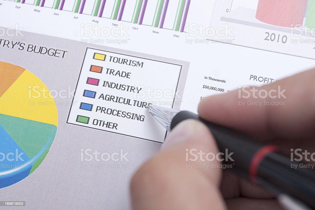 budget charts royalty-free stock photo
