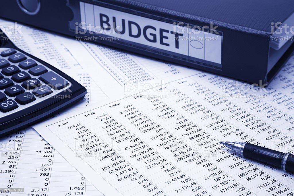 Budget concept stock photo