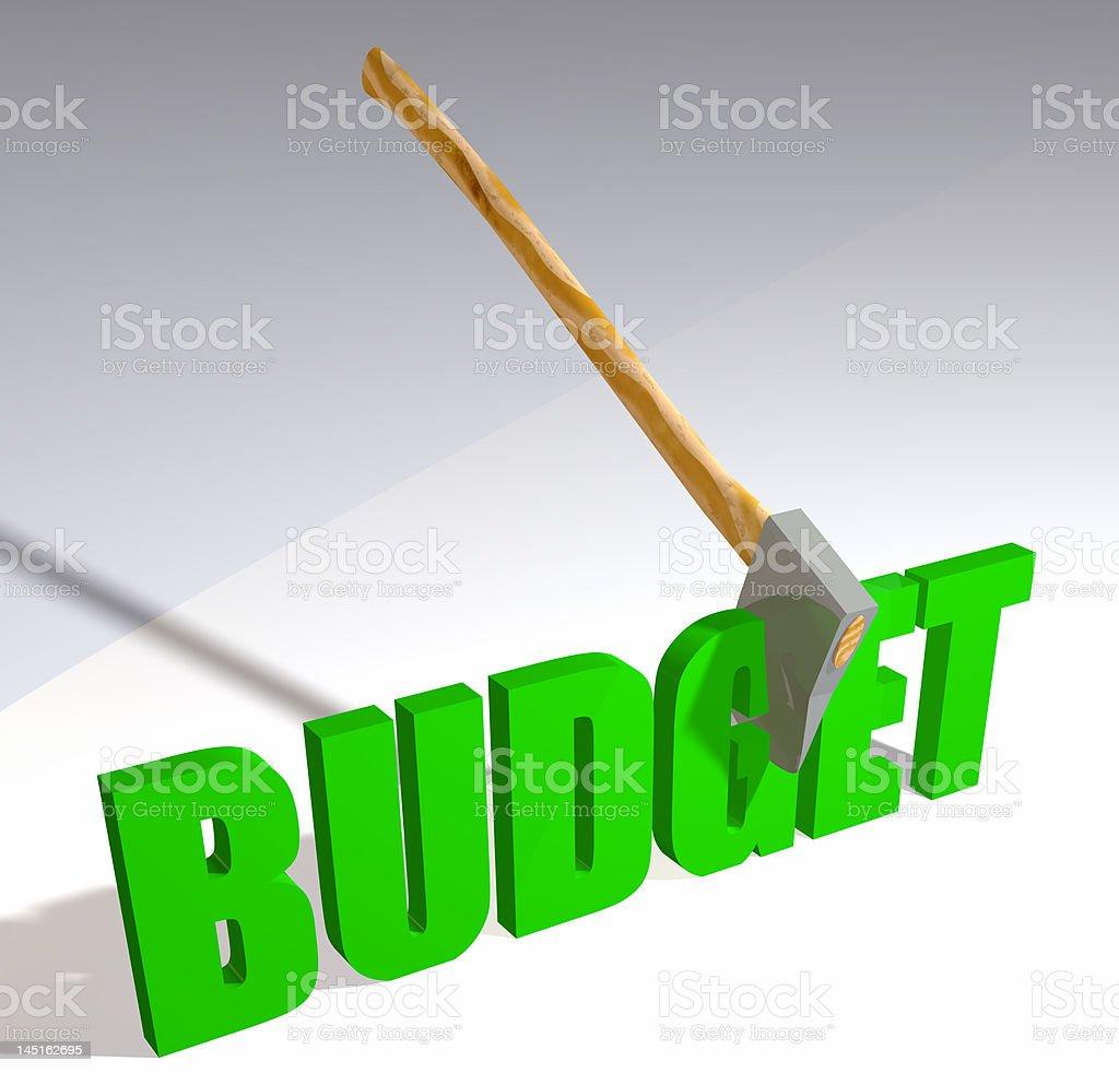 Budget Cut stock photo