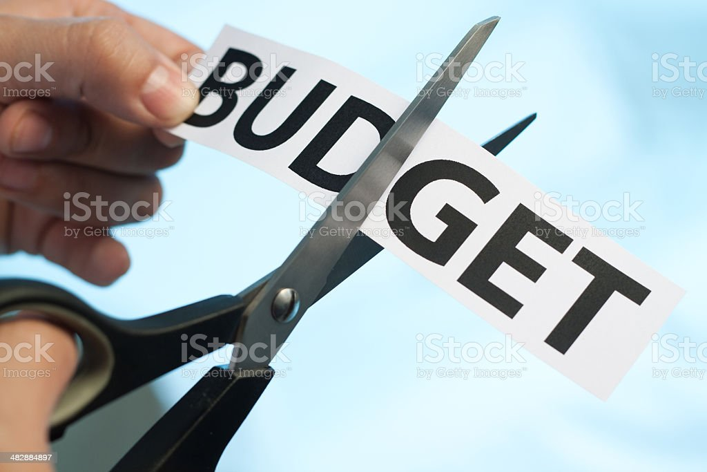 Budget cut stock photo