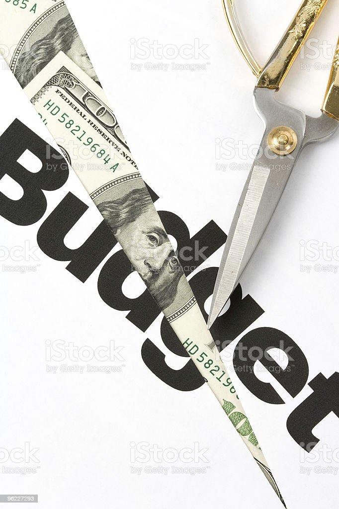 Budget Cut royalty-free stock photo