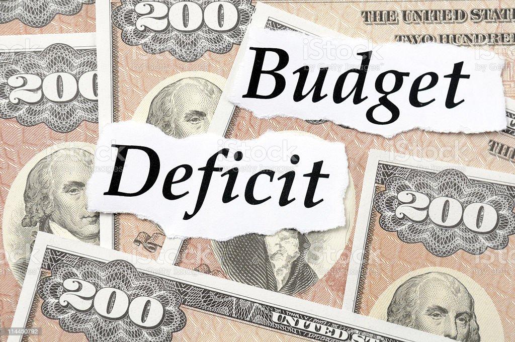 Budget Deficit Bonds stock photo
