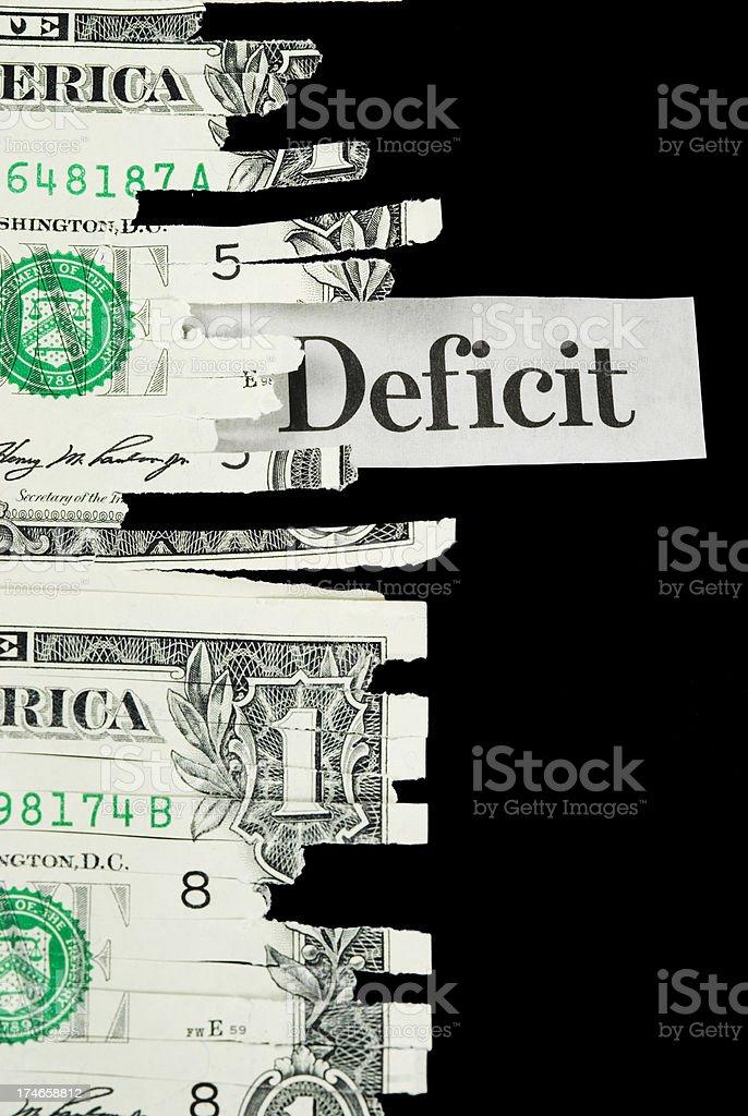 Budget deficit - I royalty-free stock photo