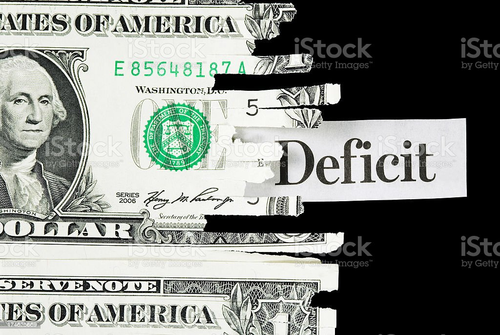 Budget deficit - III royalty-free stock photo