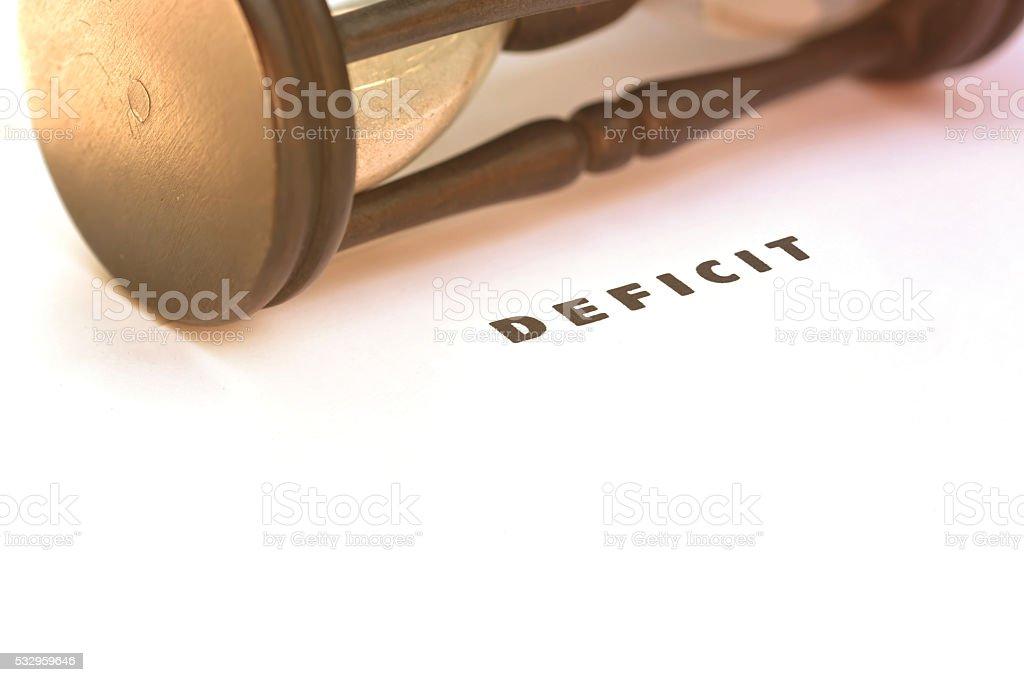 Budget deficit stock photo