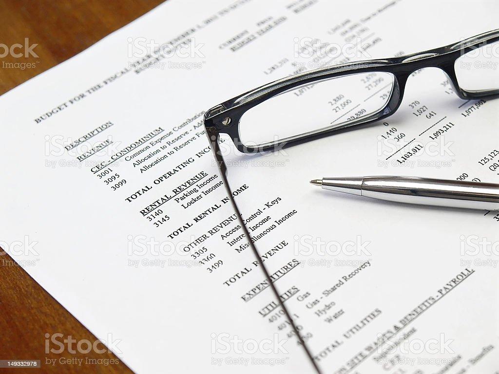 Budget Document royalty-free stock photo