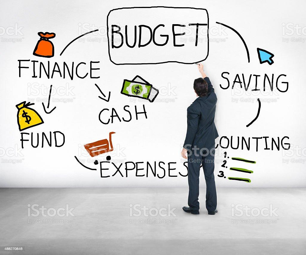 Budget Finance Cash Fund Saving Accounting Concept stock photo