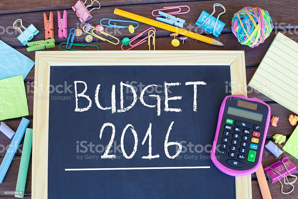 Budget For New Year stock photo