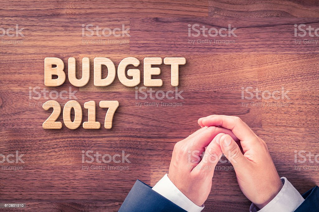 Budget for year 2017 stock photo