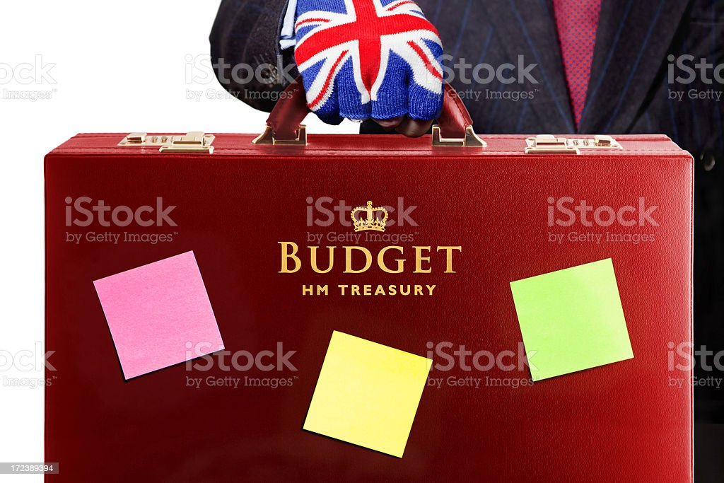 UK Budget Highlights royalty-free stock photo