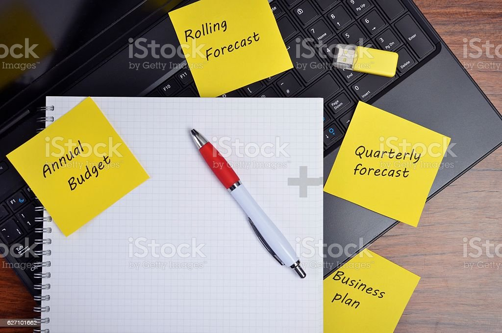 Budget notes stock photo