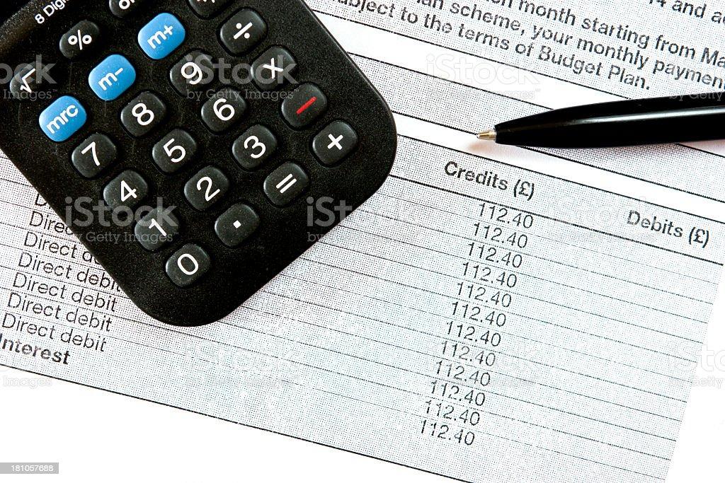 budget plan royalty-free stock photo