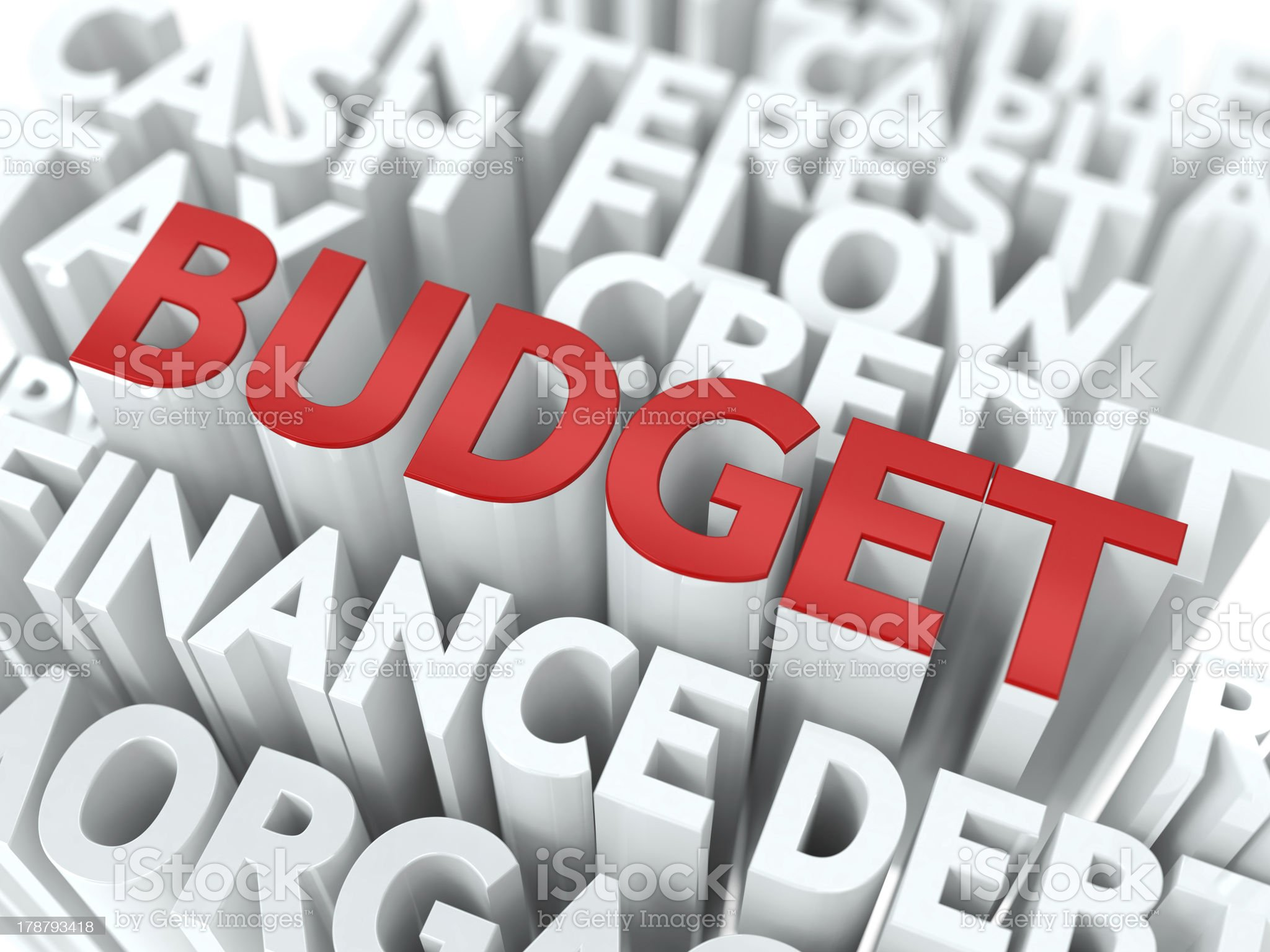 Budget. The Wordcloud Concept. royalty-free stock photo