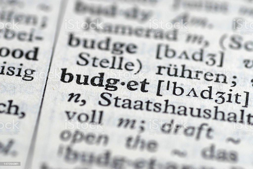 budget translation stock photo