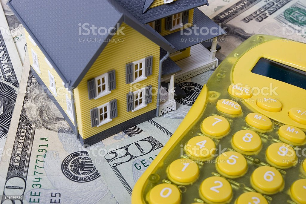 Budgeting and saving for a mortgage and down payment stock photo