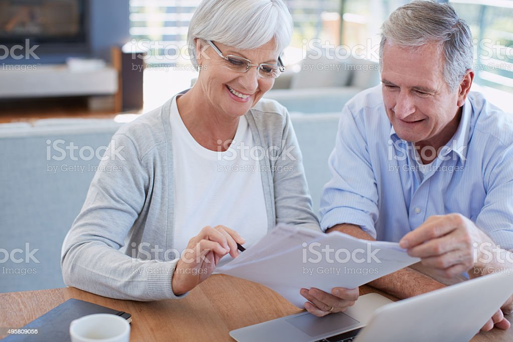 Budgeting is so important in the retirement years stock photo