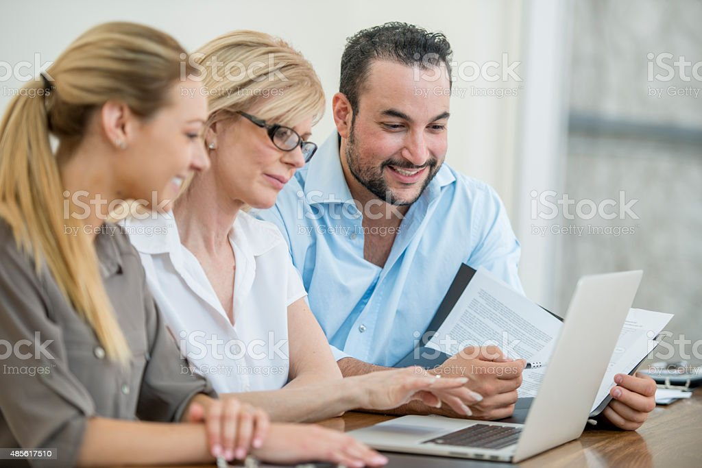 Budgeting on a Computer stock photo