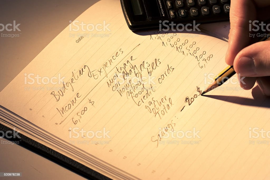budgeting stock photo