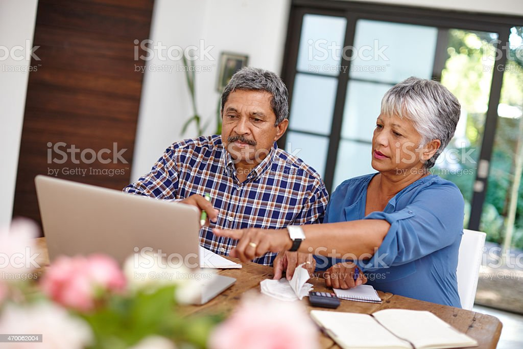Budgeting with the help from technology stock photo
