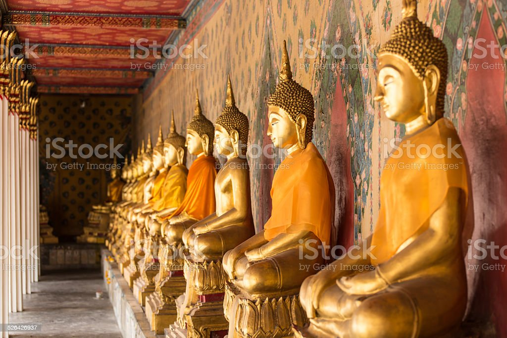 Budha Statues at Wat Pho stock photo