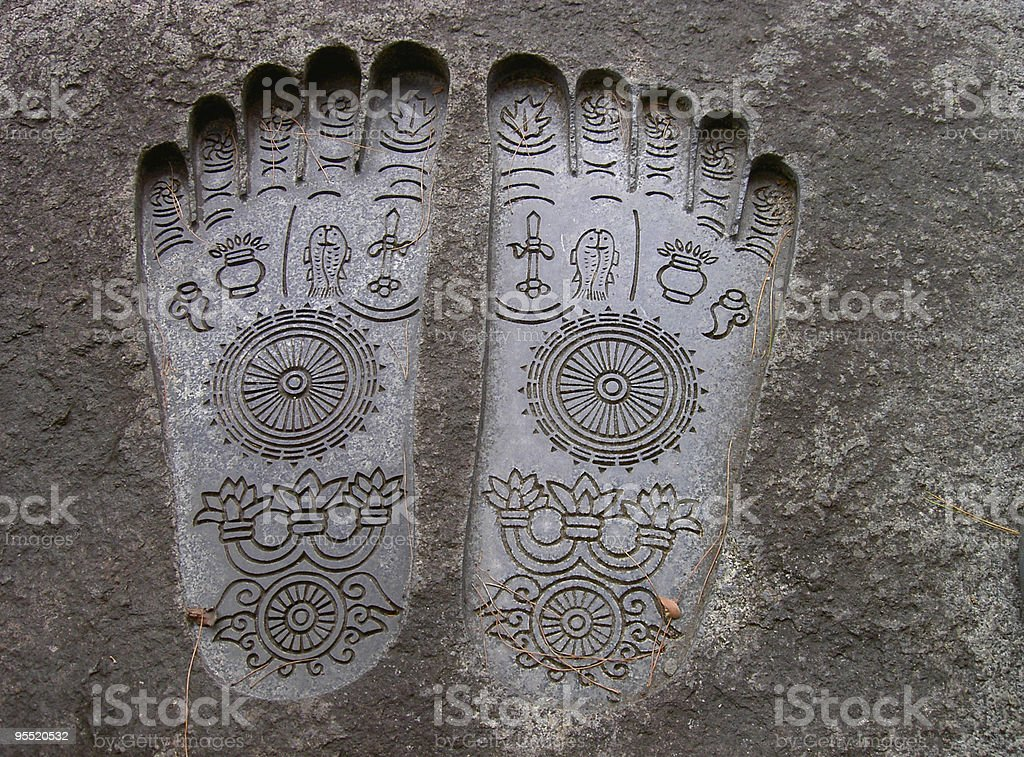 Budha's soles stock photo