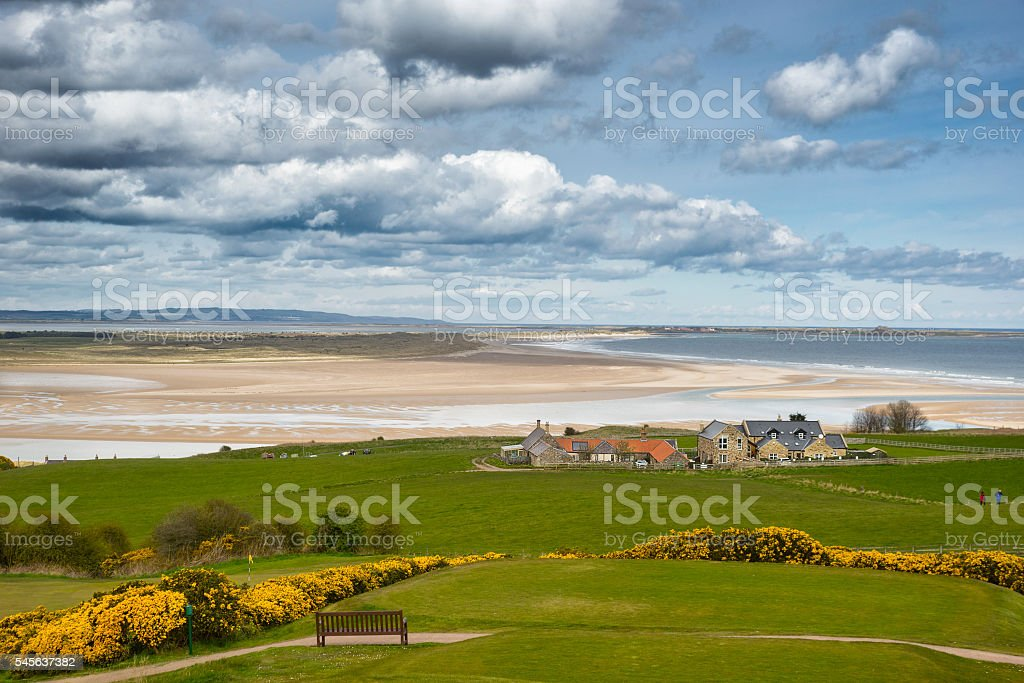 Budle Bay stock photo