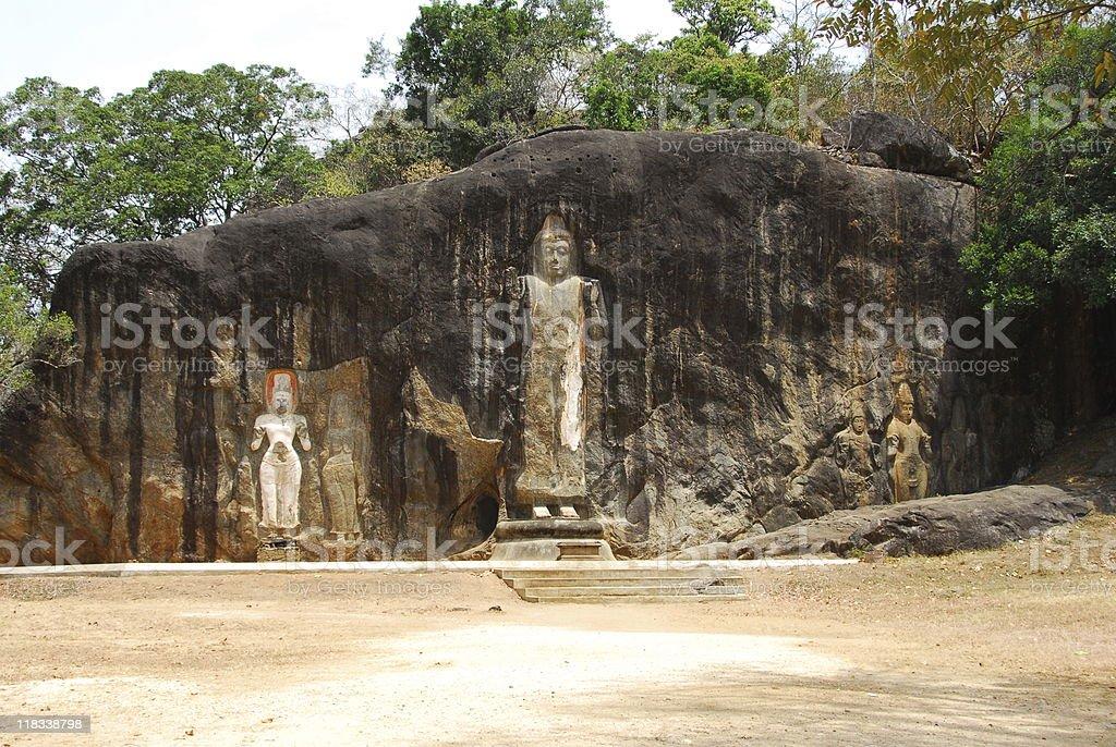 Buduruwagala Temple royalty-free stock photo