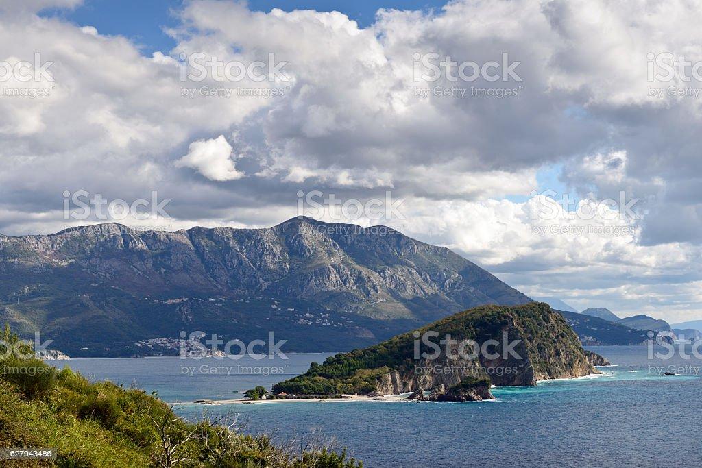 Budva bay  landscape stock photo