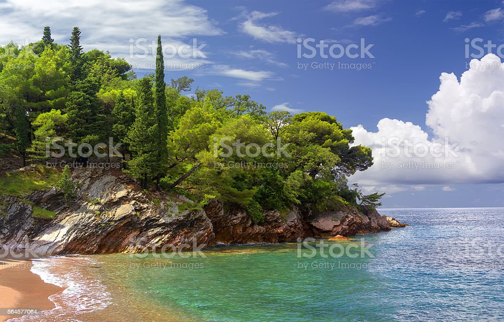 Budva Riviera. Montenegro. stock photo