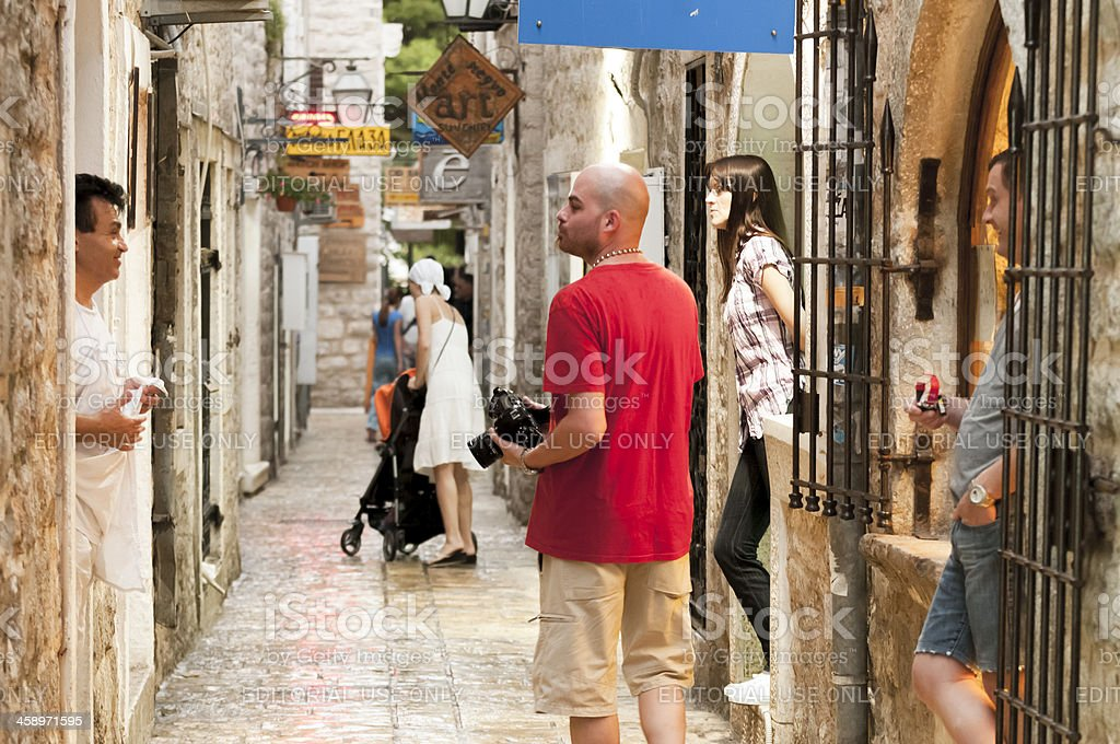 Budva Street life stock photo
