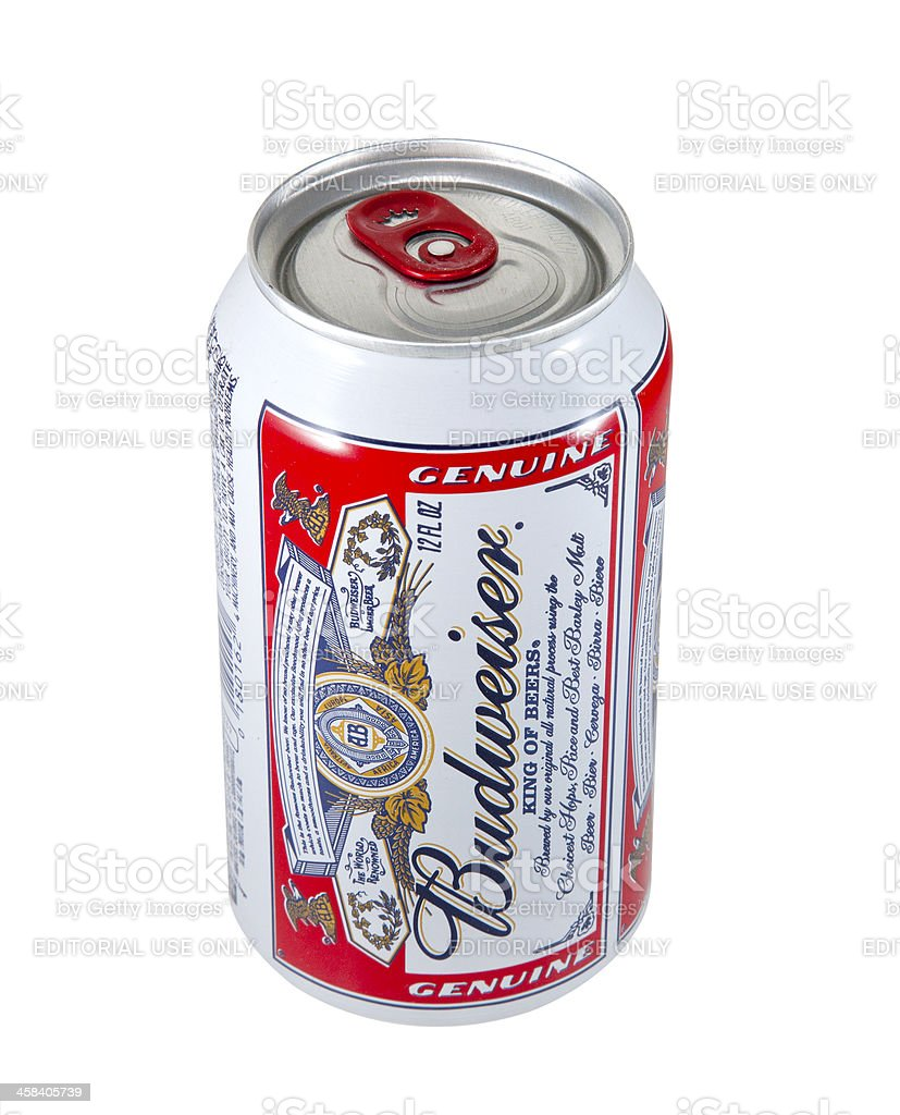 Budweiser Beer Can royalty-free stock photo