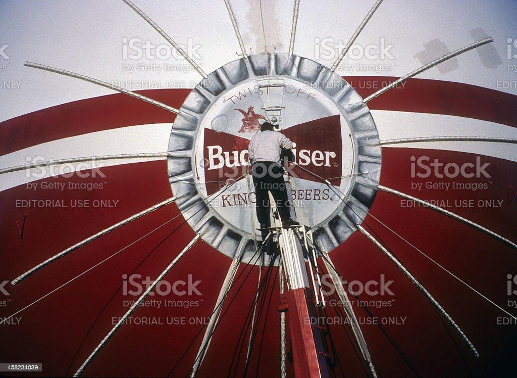 Budweiser Blimp royalty-free stock photo