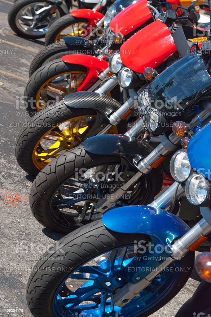 Buell Motorcycles in a Row royalty-free stock photo
